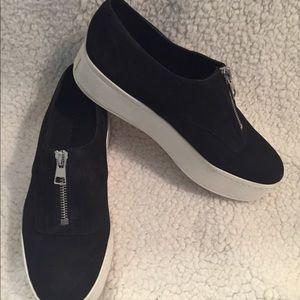 Vince Black Zipper Shoes Size 5.5